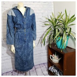 Vintage 80's Acid Wash Dress